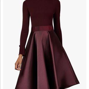 Ted Baker Zadi Burgundy Dress